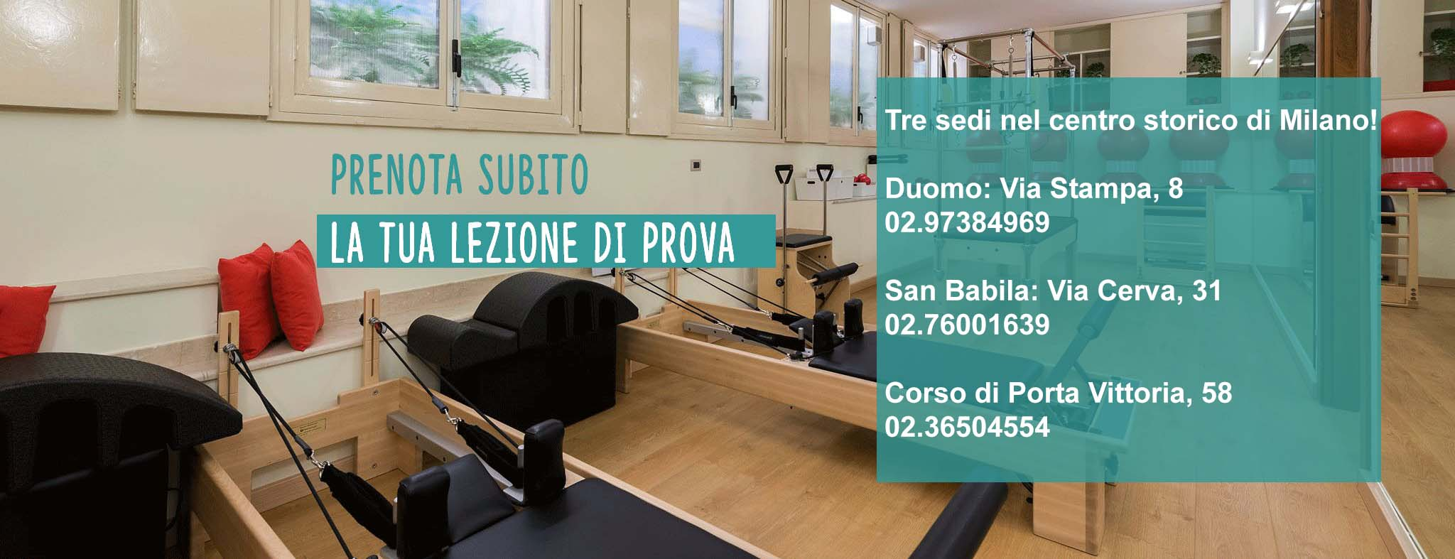 Studio Pilates Milano - Prenota subito la tua lezione di prova